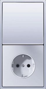 AL2520 Штепсельная розетка SCHUKO 16A 250V  ; алюминий
