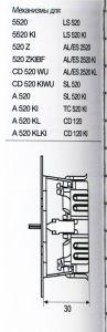 A520 Штепсельная розетка SCHUKO 16A 250V  слоновая кость