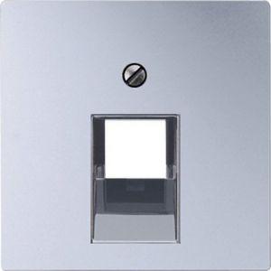 Накладка для телефонной/компьютерной розетки ECO profi, цвет - алюминий, одинарная, EP569-1BFPLUAAL