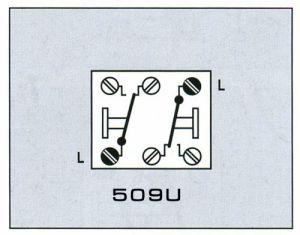 509U Выключатель 10AХ 250V универсальный сдвоенный