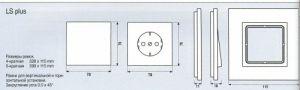 LSP981GCR Рамка для серии LS-Plus однократная; полированный хром