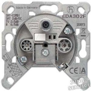 EDA302F Розетка оконечная для спутникового, эфирного и кабельного вещания
